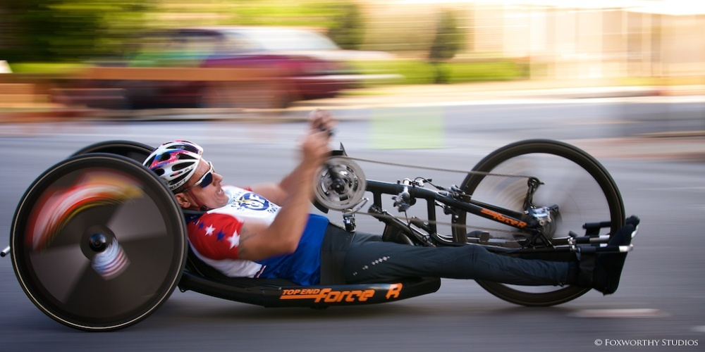 Pushing hard to the finish at a national race in Rome GA.