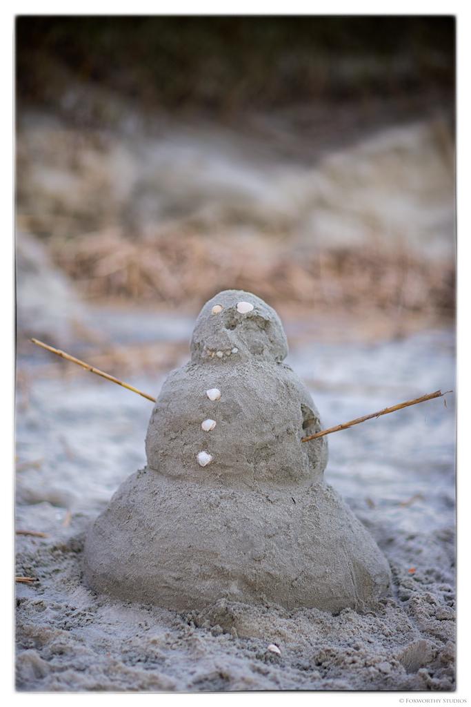 No snowmen in sight...